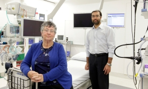 Patient Sandie Reid and Dr Krishna Epari (Courtesy of the Community Newspaper Group)