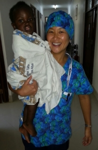 Taka Wild and one of the many patients she see on her trips to Tanzania