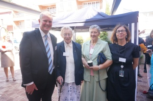 CEO John Fogarty, Sister Philomena Butler SSJG, Sister Vitalis Kilroy SSJG and Social Outreach and Advocacy Manager Peta Wootton.