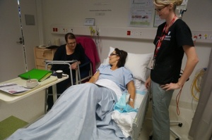 Program Simulator Coordinator Anne Little, Murdoch University Lecturer Prue Andress and Patient Care Simulation Technician Sarah Anderson.