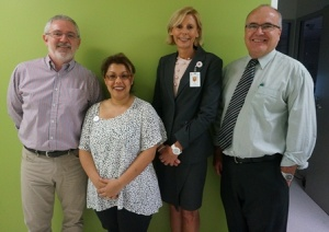 Murdoch University Professor of Nursing and Health Studies Paul Morrison, LOD Manager Anissa Emeran, Director of Workforce Leanne Merchant and University of Notre Dame Co Chair, Basic and Clinical Sciences Professor David Macy.