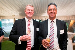 CEO John Fogarty and Doctor of the Year Michael Anderson