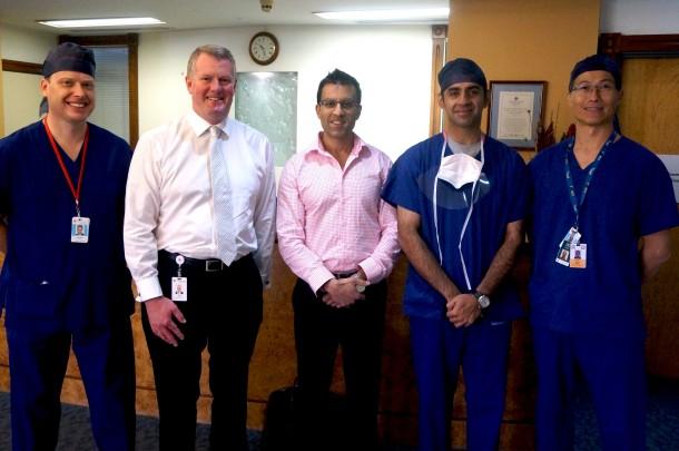 Image: Piers Yates, John Fogarty, Rajiv Gandi, Sanjeev Kakar and Allen Wang.