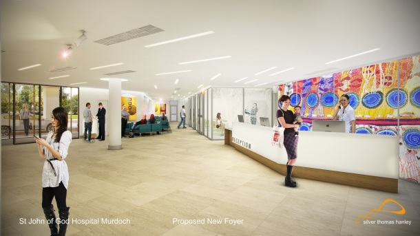 Proposed new foyer for the hospital