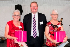 148: Wendy Johnson, CEO John Fogarty and Frances Ann Lange.