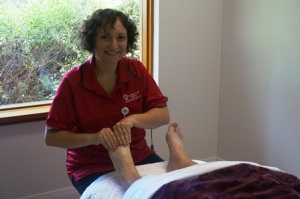 Reflexologist Josephine Jolly brings relaxation to hospice patients.
