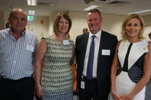 Managing Director BIZLINK Brian Park, CEO Intework Fiona Beermier, CEO St John of God Murdoch Hospital John Fogarty and Director Workforce and Support Services Leanne Merchant.