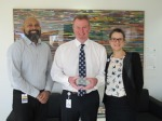 Director Marketing and Community Relations Roshan Weddikkara, Chief Executive Officer John Fogarty and Quality Manager Kimberley Montgomery.